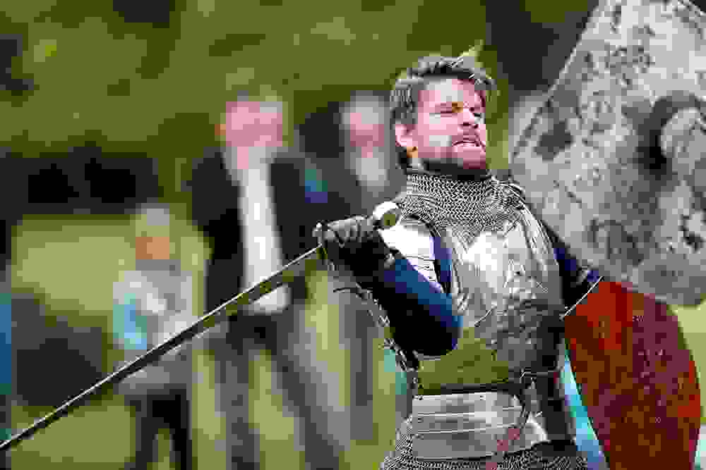 Gallant Knights fight it out at Berkeley Castle (1) image